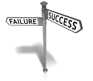 Street signs for failure and success