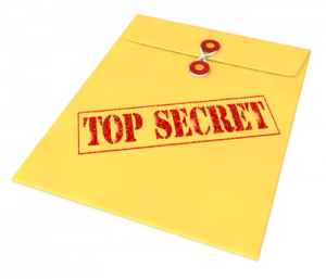 Top secret envelope concealing healthcare mistakes from patients & families