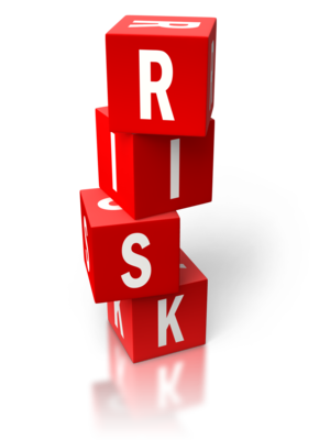 """Healthcare risks from medications spelled out with word """"risk"""" on four red blocks"""