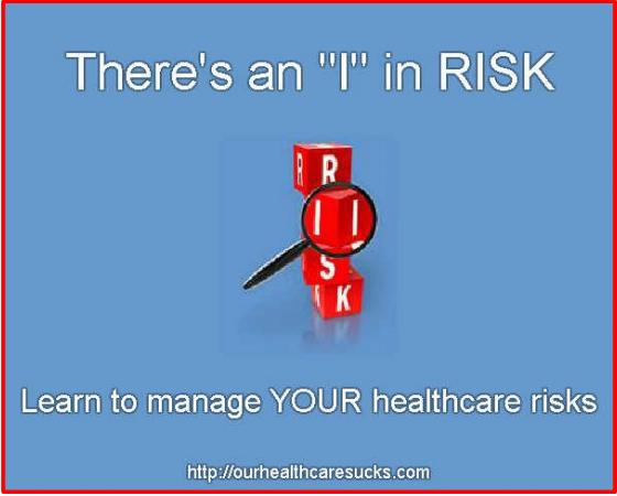 """medication risk image with there's an """"I"""" in risk"""