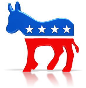 healthcare reform supporters reopresented by democratic donkey