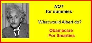 obamacare for smarties image with albert einstein