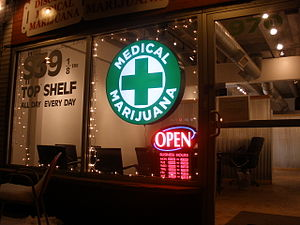 English: Discount Medical Marijuana shop