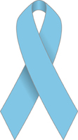 A light blue ribbon is the symbol for prostate...