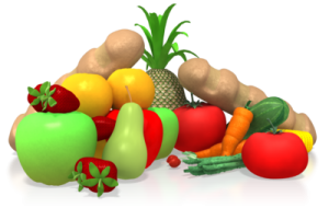 healthy food image of fruits and vehgetables